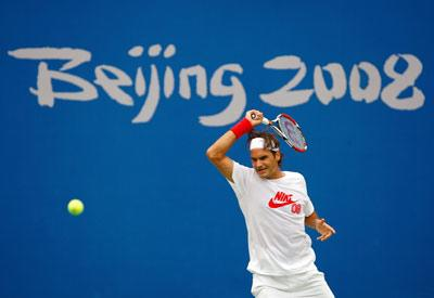 Roger Federer at the 2008 Summer Olympics in Beijing